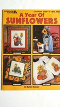 A Year of Sunflowers, Leisure Arts Home Decor Cross Stitch Pattern Booklet 2817 - $3.93