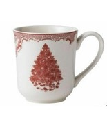 4 Johnson Brothers Old Britain Castles Pink TREE CHRISTMAS COFFEE MUGS NEW  - $79.19