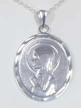 """""""FATIMA"""" STERLING SILVER PENDANT With 18 inch chain made In Ireland image 2"""