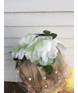 Easter Veil White Net Floral Wedding Bridal Whimsy Vintage - $22.00