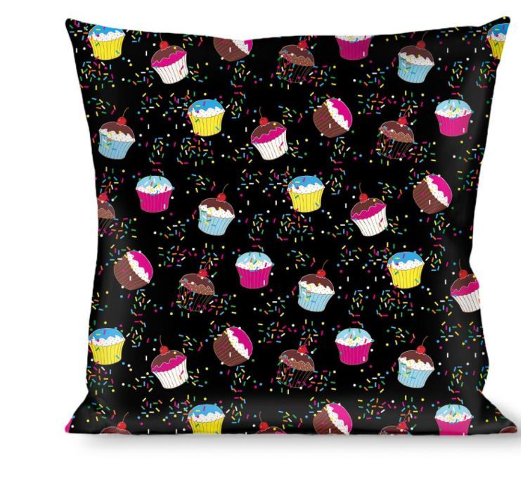 Throw Pillow - Cupcake Sprinkles Logo