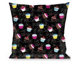 Throw Pillow - Cupcake Sprinkles Logo - ₨1,995.29 INR