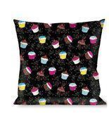 Throw Pillow - Cupcake Sprinkles Logo - ₨2,092.84 INR