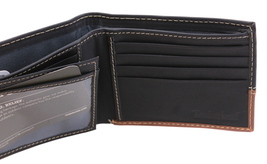 Timberland Men's Genuine Two Tone Leather Credit Card Billfold Commuter Wallet image 15