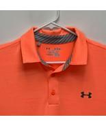 Under Armour Heatgear Mens Golf Polo Orange XL - $27.24