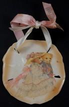 Sand Dollar Ornament with Bride & Groom Teddy Bears - $9.89