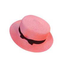 Floppy Foldable Ladies Women Straw Beach Sun Summer Hat Beige Wide Brim Breathab image 5