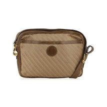 Authentic Gucci Vintage Light Brown Monogram Canvas Messenger Bag - $103.95