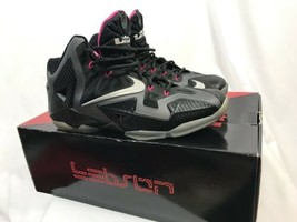 Nike Lebron XI Flywire Sneakers, Black, Men's Size 10.5 - $89.25