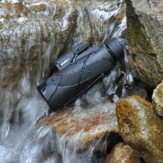 12X50 High Power Prism Monocular Scope, Smartphone Holder, & Handheld Tripod Kit image 2