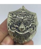 Thai Amulet Phra Rahu with Takrud Garuda Gamble Rich Lucky Pendant by Ne... - $48.88