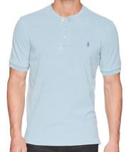 Polo Ralph Lauren Mens Light Blue Pique Mesh Henley Shirt Big & Tall 2XLT 3341-5 - $49.00