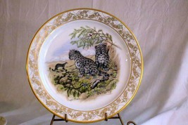 """Lenox Annual 1982 Natures Nusery Snow Leapords Collector Plate 10 1/2"""" - $13.16"""