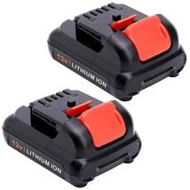 2 Pack 12V 3.0Ah Lithium Battery Replacement For Dewalt 12V Battery Dc - $54.99