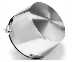 Kichenart Stainless Steel Induction Jam Pot Bucket Multipot Basket 9L (Lid) image 2
