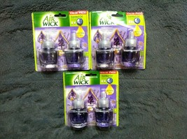 6 NEW AIR WICK SCENTED OIL REFILLS LAVENDER & CHAMOMILE W/PACKAGE - $32.71