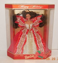 1997 Happy Holidays Barbie Doll Collectors Edition RARE HTF Mattel - $32.73