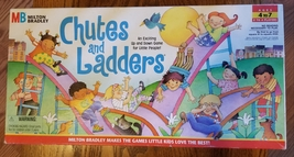 CHUTES & LADDERS GAME  1997 MILTON BRADLEY HASBRO complete  - $12.00