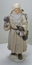 "10"" Tall Antique Style Old World Santa Claus Holding Bells  & Toy Sack - $23.71"