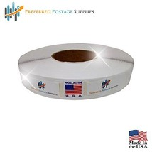 "Preferred Postage Supplies White 1"" Wafer Seals 500 Tabs Per Roll USPS Approved  - $9.44"