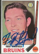 Fred Stanfield 1969 Topps Autograph #32 Bruins - $14.89