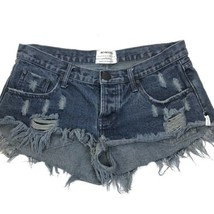 ONE TEASPOON Bonitas Free People Distressed Button Fly Jean SHORTS Size 29 - $59.39