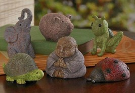 Grasslands Cement Lucky Garden Figurine Set - $22.76