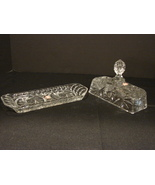 Vintage Kristal Zajecar 24% Lead Crystal Butter Dish Made in Yugoslavia... - $17.99