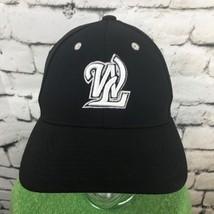 WL Boys Youth Sz 6 3/8-6 7/8 Hat Black Fitted Baseball Cap Flaw - $14.84
