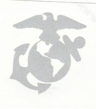 "REFLECTIVE USMC Marine Corps fire helmet window decal sticker up to 12"" RTIC car - $3.46+"
