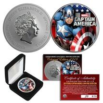 2019 1oz Pure Silver BU Tuvalu Marvel CAPTAIN AMERICA Avengers Coin Ltd ... - $60.73