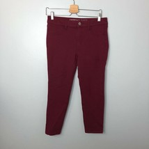 American Eagle Outfitters Burgundy Leggings Jeggings Sz 8 Womens Super S... - $380,77 MXN