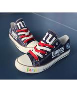 ny giants shoe women converse style giants sneakers tennis shoe custom fans gift - $59.99