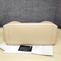AUTHENTIC CHANEL QUILTED CAVIAR GST GRAND SHOPPING TOTE BAG BEIGE SHW RECEIPT  image 2