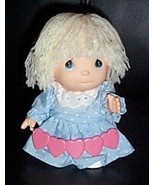 """Precious Moments Hi Babies 6"""" Blonde Doll Holds Love String of Hearts - $8.95"""