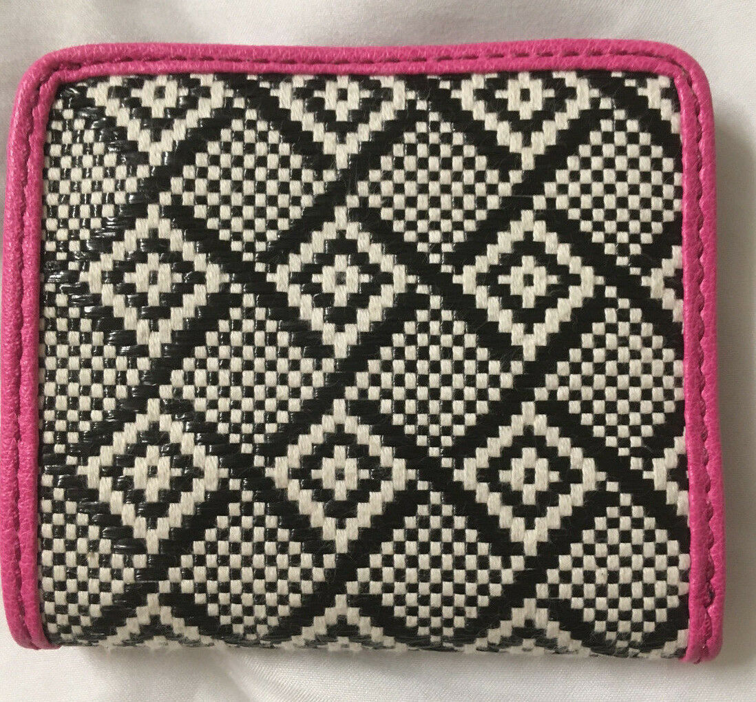 NWT Fossil Madison Woven Bifold Mini Wallet w/ Leather Trim +25%off next order*