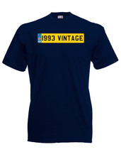 1993 Vintage Number Plate Birthday Graphic Quality t-shirt tee mens unisex - $13.44