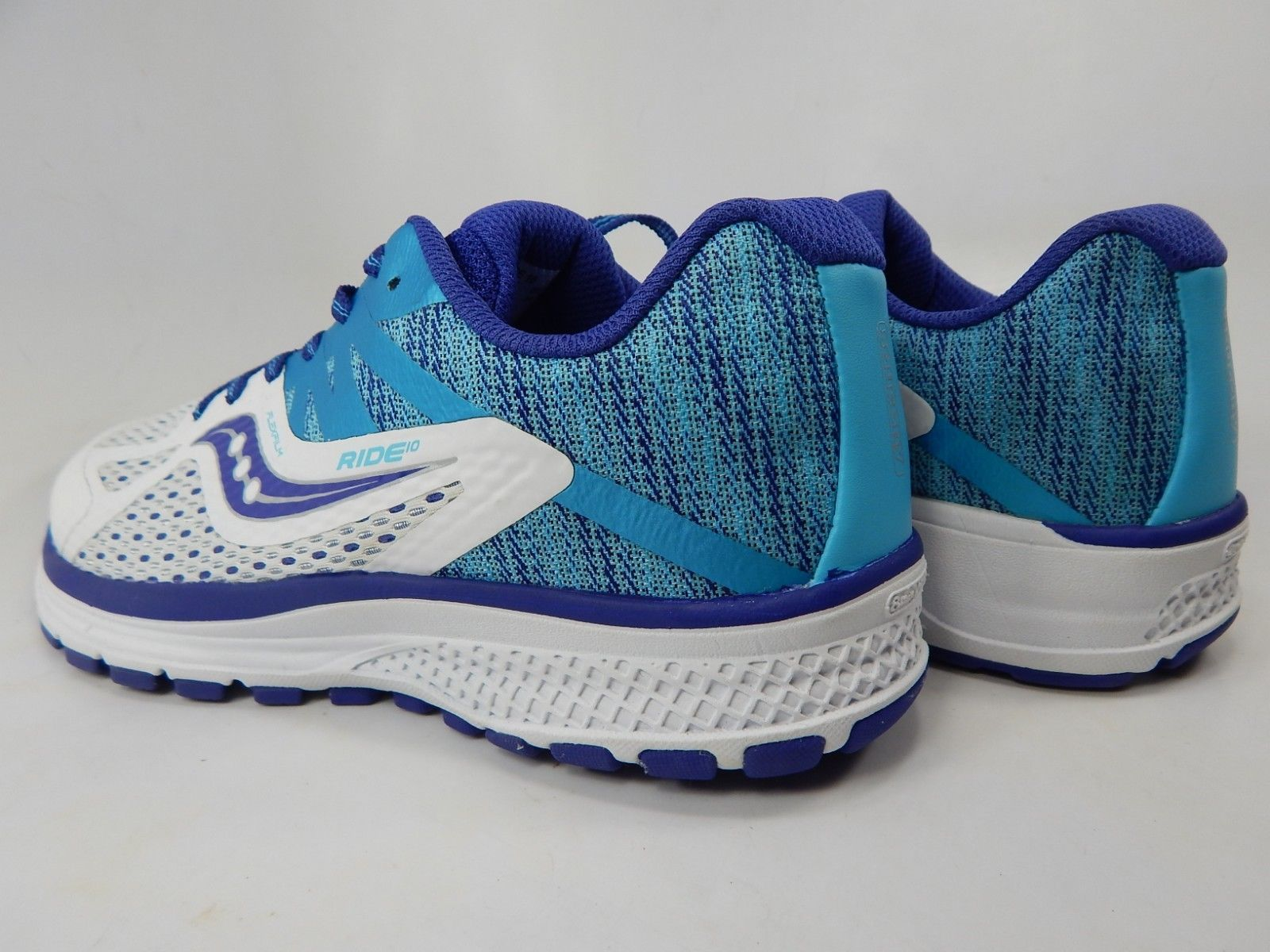 Saucony Ride 10 Size 4 Y (M)  Boy's Youth Running Shoes Blue White S16000-2