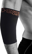 Athletec Sport Copper Elbow Sleeve Compression Support (20-30 mmHg), Size M image 1