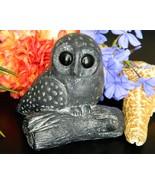 Vintage Owl Branch Wolf Original Composite Soapstone Sculpture Canada - $14.95
