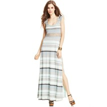 Jessica Simpson Kinsey Mint Green Gray Striped Lace Side Slit Maxi Dress... - $14.03