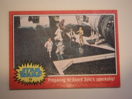 Star Wars Series 2 (Red) Topps 1977 Trading Card # 79 Preparing To Board Solo's - $1.49