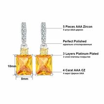 OrsaJewels® Luxury Zircon Ring Earring Set With 4 Carat Cut Yellow image 3