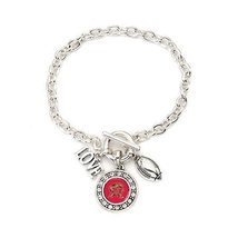 Inspired Silver Maryland Terrapins Love Football Charms Sterling Silver ... - $613,12 MXN