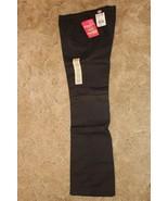 Dickies Girl's Wide Band Uniform Stretch Fabric Sz 5 Black Bootcut Pants... - $14.80