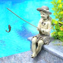 Nellie's Big Catch Fisherwoman Statue - $42.39