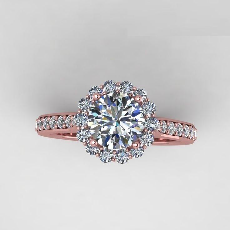 2cd1f19673cbd80954962fc69c71ec2e  wedding rings rose gold rose gold diamond ring