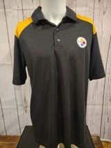 Men's NFL Team Apparel Pittsburgh Steelers short sleeve Dri Fit Shirt Medium  - $12.99