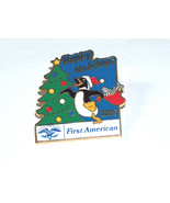 2003 Happy Holidays First American Title Co. Xmas Pin Button - $9.18