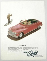 1947 Print Ad Dodge Red Convertible Lowest Priced Car with Fluid Drive - $13.17